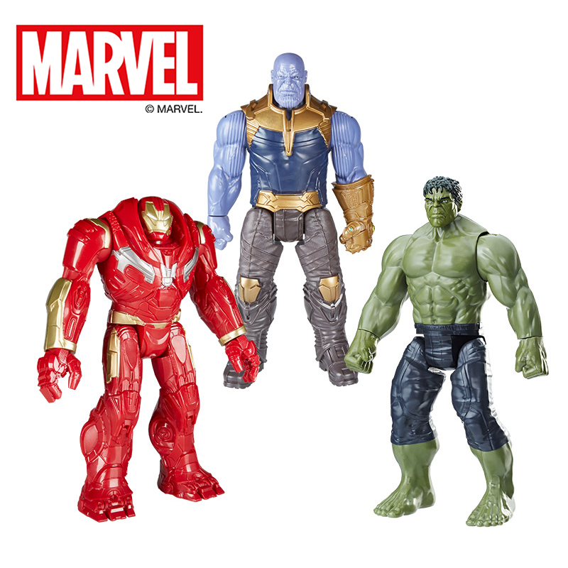 Original 30cm Marvel The Avenger Super Hero Thor Action Figures TITAN HERO SERIES Figure Collectible Model Toys for children цена