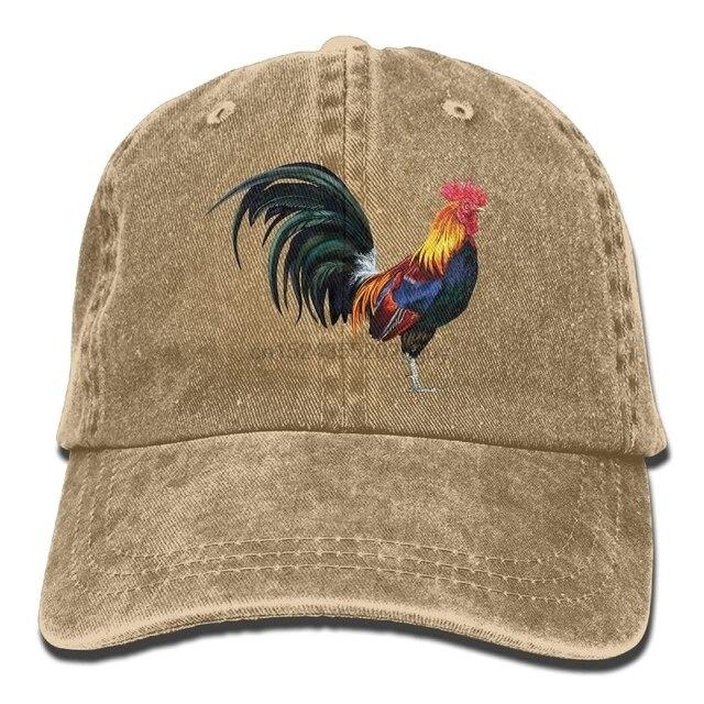 Unisex el realista Gallo logotipo divertido del algodón gorra de béisbol  ajustable sombreros para el deporte 1f0a55a1a1b