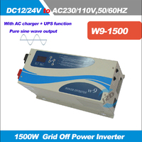 Wall Mounted 1500W Converter Frequency Pure Sine Wave Inverter DC12 24V To 110 230VAC With AC