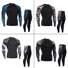 Mens Underwear>Long Underwear Set > men thermal underwear winter >sports compression workout set S M L XL 2XL 3XL 4XL