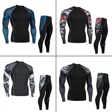 Men's Underwear>Long Underwear Set > men thermal underwear winter >sports compression underwear workout set S M L XL 2XL 3XL 4XL цена