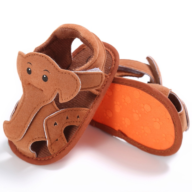 Cute Elephant Pattern Hollow Baby Boy Casual Prewalkers Soft Sole Summer Shoes 0-18 M 4 Colors