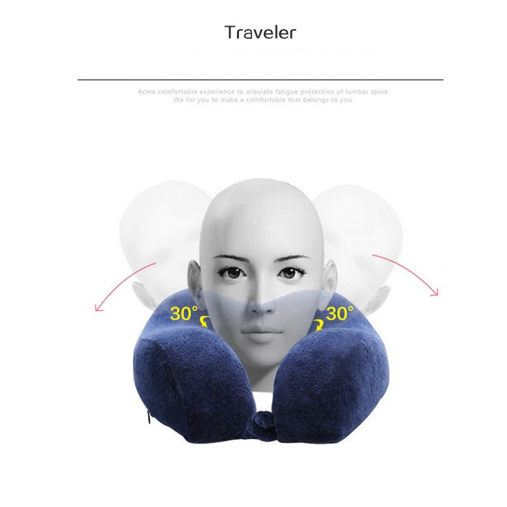 New U-shape Headrest 28x26cm Neck Pillow Latex Memory Foam Filler Travel Office Car Embrace Cervical Pillow Home Textile Less Expensive Back To Search Resultshome & Garden Pillows