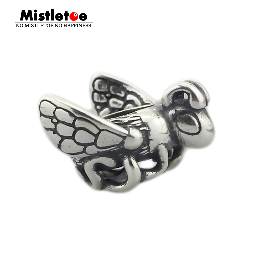 Genuine 925 Sterling Silver Bumle Bee Charm Bead