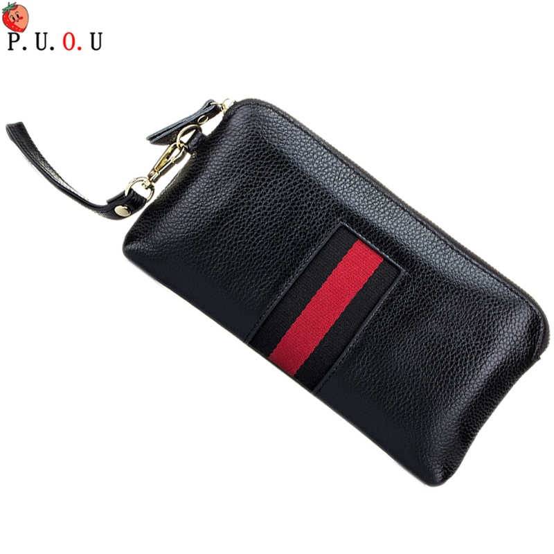 2019 Wallet Women Brand Design Portefeuille femme Genuine Leather Clutch Women Wallets 4 Colors Fashion Long Carteira Feminina