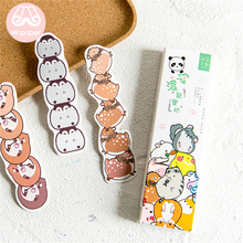 Mr Paper 30pcs/box Kawaii Cartoon Animals Irregular Bookmarks for Novelty Book Reading Maker Page Paper Bookmarks Child Gifts mr page 8