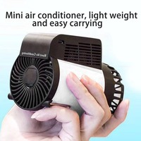 Mini Hand Air Conditioner Rechargeable Handheld Table Cooling Heating Fan Practical 2 In 1 Air Conditioner