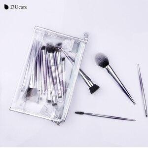 Image 5 - Ducare 17 pçs pincéis de maquiagem conjunto fundação pó sombra sobrancelha escovas para maquiagem kit de ferramentas cosméticos