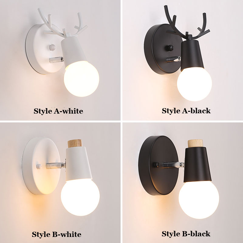 (7W) Creative Bedside Wall Lights, Simple Staircase/Corridor/ Aisle Light Childrens Room Deer Head Light
