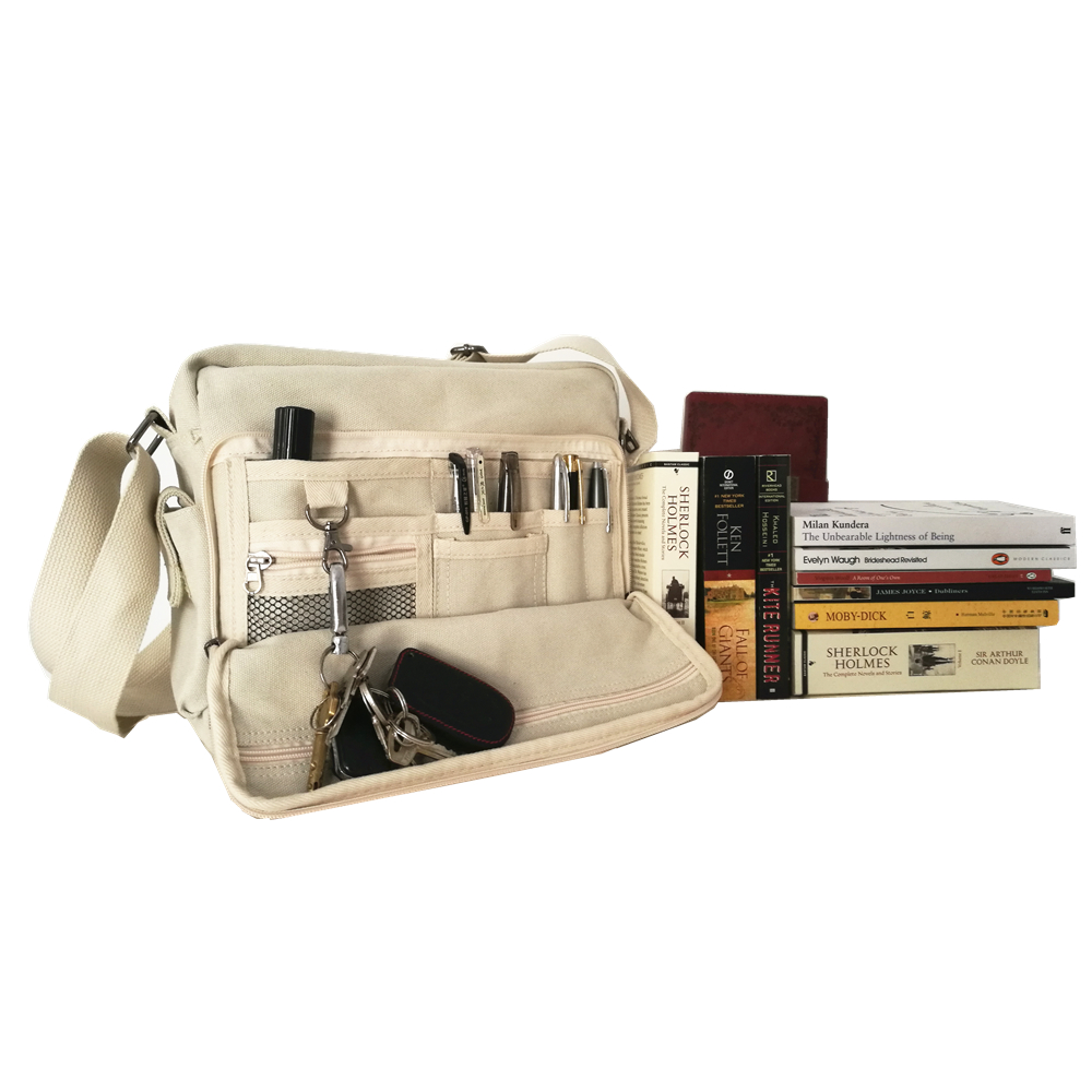 Preppy Style Canvas Handbags Street Style School Bags College Middle School Chic Crossbody Bags Book Paper Pad Phone Card Bags