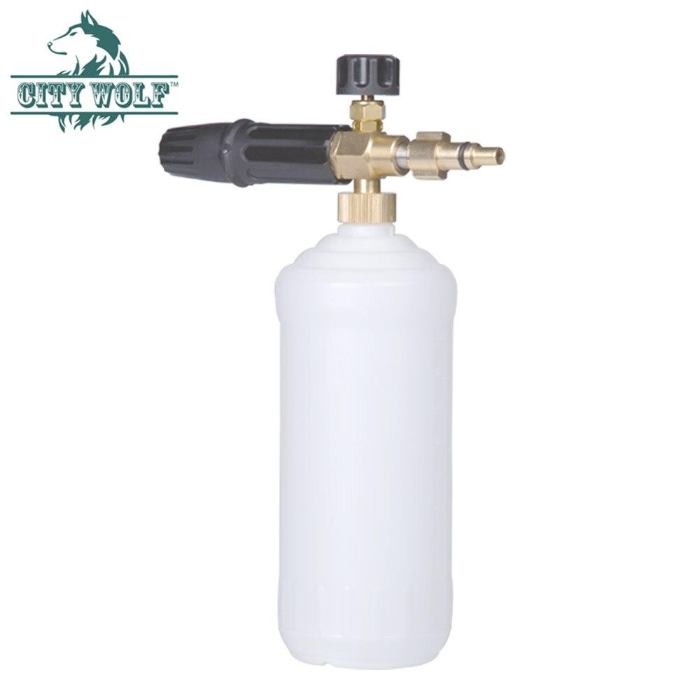 City Wolf car washer foam cannon snow foam lance soap bottle foam nozzle for Hammer Hammerflex high pressure washer