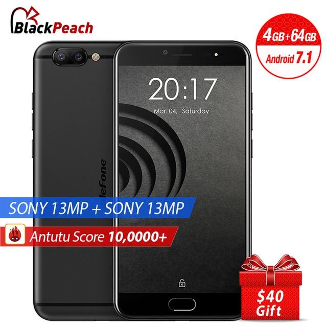 New Ulefone Gemini Pro Dual Rear Cameras Mobile Phone 5.5 inch FHD MTK6797 Deca Core Android 7.1 4GB+64GB 13MP Cam Fingerprint