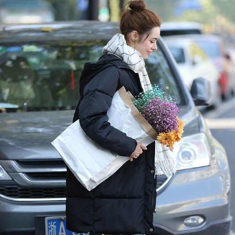 Nowe Pogrubienie 2018 kobiet kurtka zimowa Parka płaszcz dół plus - Ubrania Damskie - Zdjęcie 3
