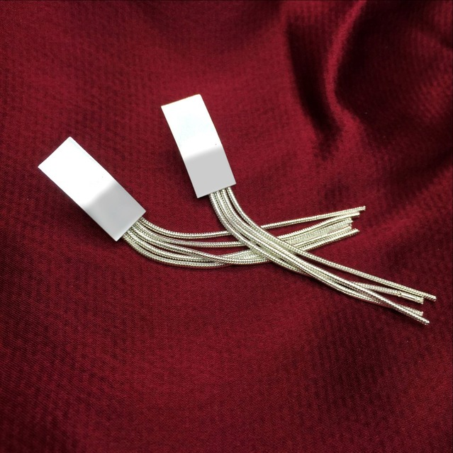 New white Plata Long Crystal Tassel Dangle Earrings for Women Bar Wedding Drop Earing Fashion Jewelry.jpg 640x640 - New white Plata Long Crystal Tassel Dangle Earrings for Women Bar Wedding Drop Earing Fashion Jewelry Gifts
