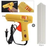 Mini 100 240V 60W Hot Melt Glue Gun Heating Craft Repair Tool With 10pcs 11mm X