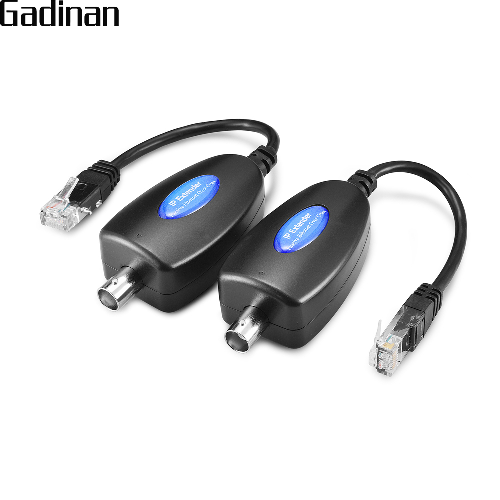 GADINAN 1-CH Passive IP Extender over Coax Transmit IP Camera signal over Existing Coaxial Cable Max Up to 220m at 100Mbps hsv379 hdmi extender over coax cable full hd 1080p hdmi over single rg59 rg 6u coaxial cable extender for dvr dvd home theater