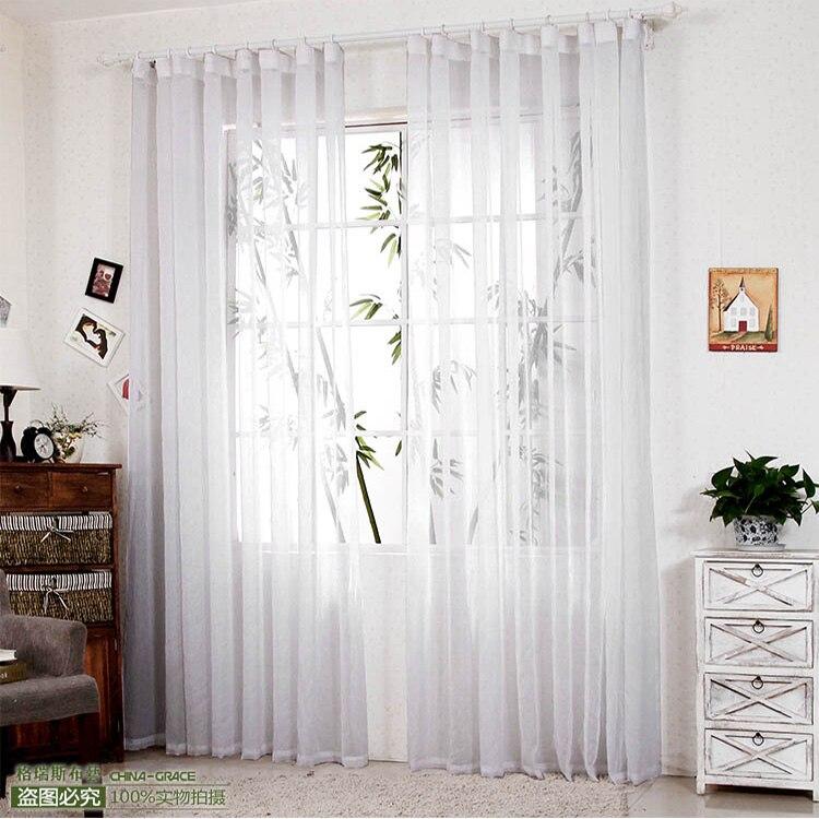 270 cm alto) venta caliente acabado cortinas para ventanas gasa ...