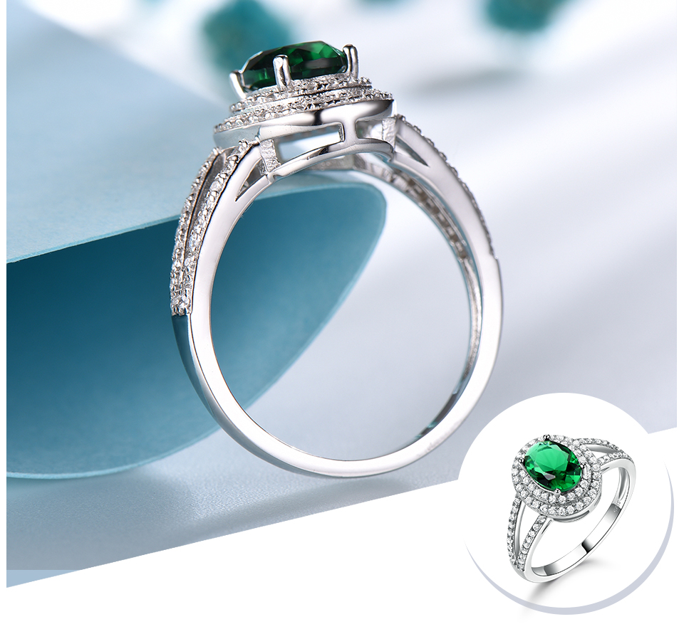 UMCHO-Emerald -sterling-silver-rings-for-women-RUJ097E-1-pc (4)