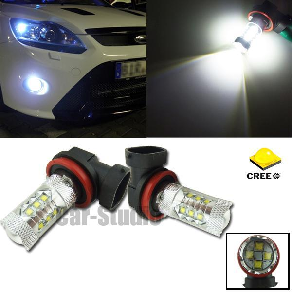 2pcs Xenon White H8  80W LED High Power Automobile Headlight Fog Driving Lights