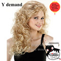 Natural Wig Party Women Fashion Long Wavy Curly Costume Synthetic Hair Sexy Blonde Wigs Female Peruca Pelucas