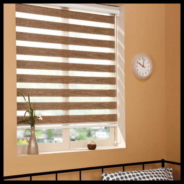 Popular Zebra Blinds Double Layer Roller Blinds Ready Made Curtain Curtain Fabric