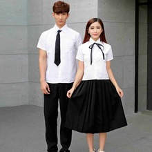 b5e084b4efef Girls Japanese School Uniform Male Female Summer School Wear Students Short  Sleeved Couple Costumes School Uniform
