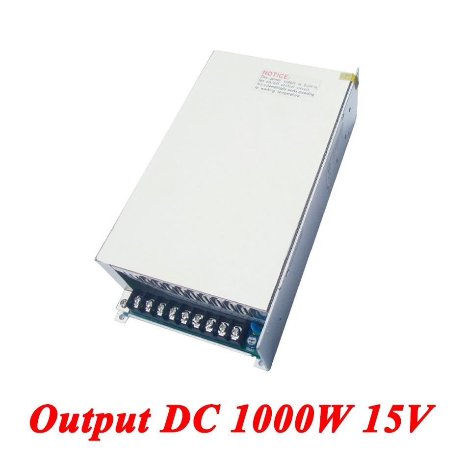 S 1000 15 Switching Power Supply,1000W 15v 66A Single Output Ac Dc Converter For Led Strip,AC110V/220V Transformer To DC 15 V