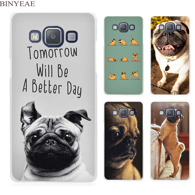 timeless design 134c9 116e1 BINYEAE Funny Pug Doing Yoga Clear Transparent Cell Phone Case Cover for  Samsung Galaxy A3 A5 A7 A8 A9 2016 2017-in Half-wrapped Case from  Cellphones ...