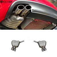 A5 to RS5 Stainless steel car exhaust pipes auto muffler tips for AUDI A5 RS5 2010 2015