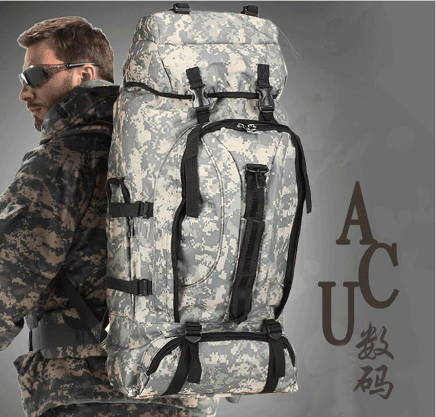 Top quality 70 L Outdoor Sports Bag Military Tactical Bags Hiking Camping Waterproof Wear resisting Nylon