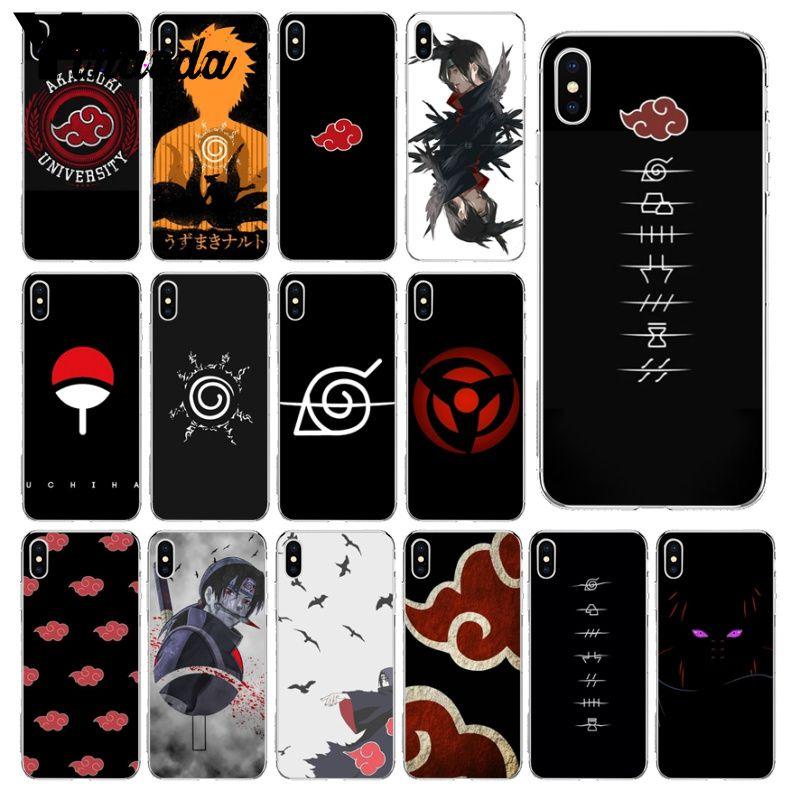 Yinuoda Akatsuki Logo Naruto Custom Photo Soft Phone Case for iPhone 6S 6plus 7 7plus 8 8Plus X Xs MAX 5 5S XR