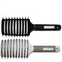 Masaj Tarak Saç Fırçası Kıl ve Naylon Kadınlar için Islak Kıvırcık Detangle Saç Fırçası Salon Kuaförlük Şekillendirici Araçları