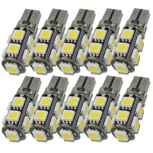 Safego 10x T10 194 168 9 SMD 5050 Auto LED Lamp Canbus W5W Led voor Auto Dome Lezen Interieur Signaal Verlichting Lampen wit(China)