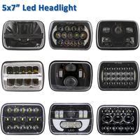 Pair New 105W 5x7 Led Headlights 7x6 Led Sealed Beam Headlamp with High Low Beam Led Headlight for Jeep Wrangler YJ Cherokee XJ