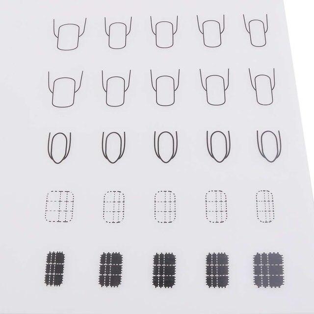 Online Shop Lipat Nail Art Praktek Mewarnai Silikon Pad Tikar Meja