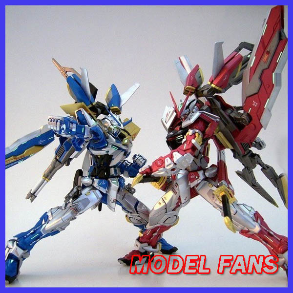 MODEL FANS FREE SHIPPING  GUNDAM cool model DABAN ASTRAY RED  and  DABAN  ASTRAY BLUE  MG 1:100 Plating effect action figure  model fans daban mg assembly gundam model 1 100 mobile suit gundam age 1 normal asemu asuno free shipping action figure