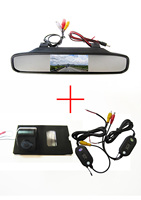 Wireless Car Rear View Camera for Land Rover Discovery 3 4 Range Rover Sport Freelander 2,with 4.3 Inch Rear view Mirror Monitor