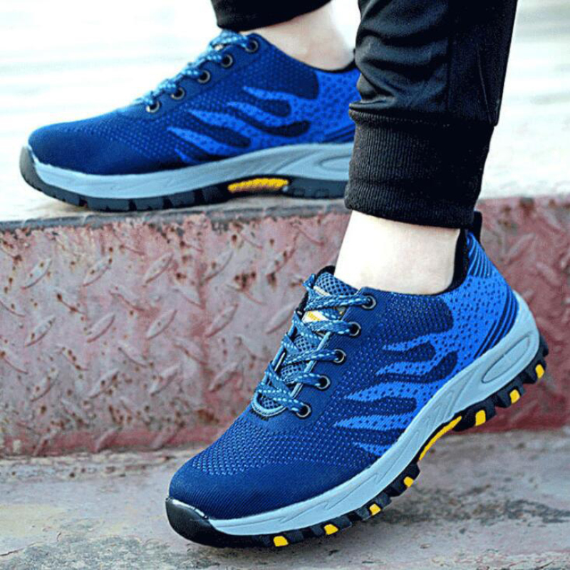 Size 35 46 Unisex Work Boots Men Safety Shoes Air Mesh Steel Toe Boots Work Shoes Men Footwear Outdoor Safety Boots For Men 39 s in Work amp Safety Boots from Shoes