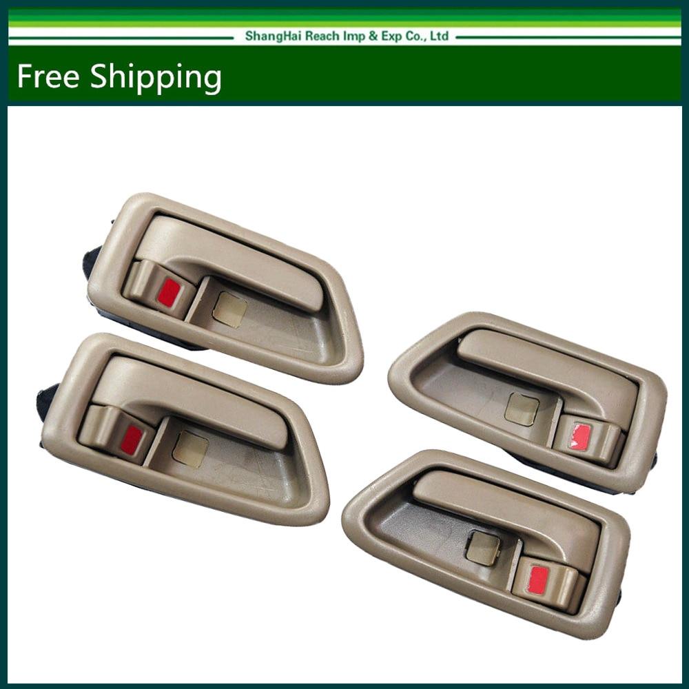 Interior door handle for toyota camry beige left right set of 4 oe 69206