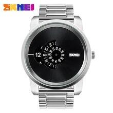 SKMEI Creative Display Large Dial Design Fashion Watch 30m Waterproof men's Digital Alloy Wristwatches