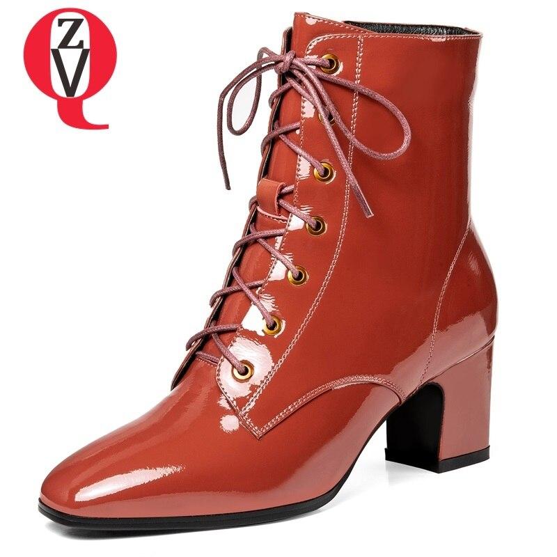 Bottes Noir Rouge Black Et Mode Cuir Cheville Éclair