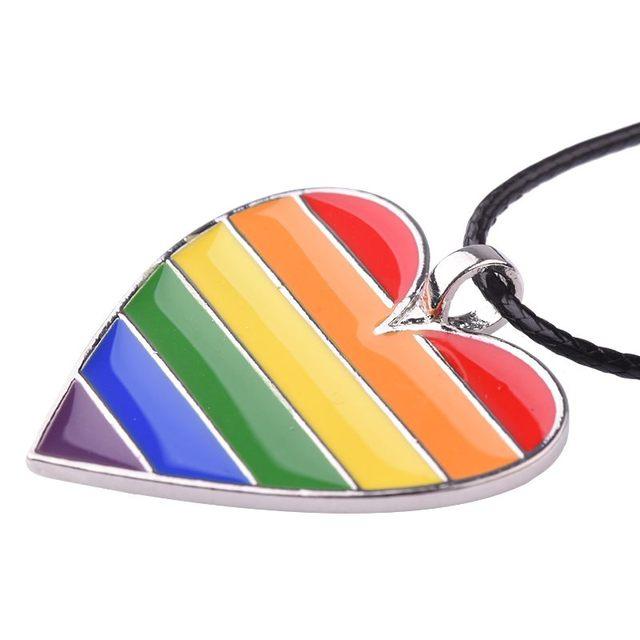 Collar con Forma de Corazón de LGBT