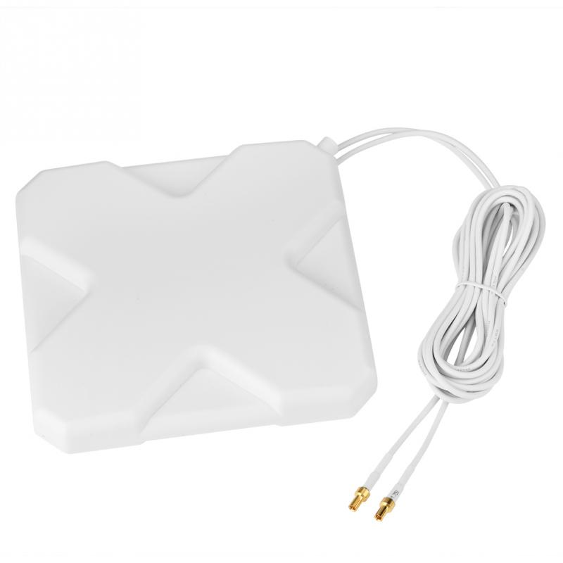 35dBi 4G/3G WiFi Antenna LTE Antenna Signal Amplifier 4g/3g Mobile Router WiFi Antenna Double TS9 Port Network Broadband Antenna