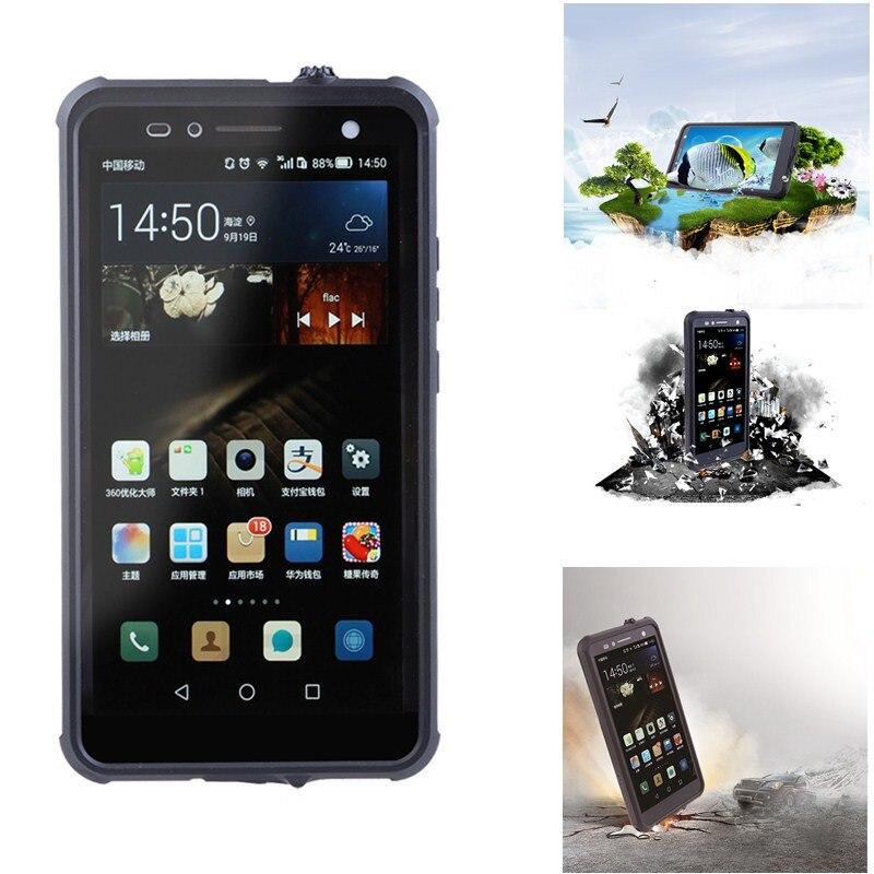 imágenes para Caso Para Huawei Mate 7 Hermético al polvo A prueba de Agua IP68 A Prueba de agua prueba Ultra Thin Lujo Teléfono Caso de la Contraportada Para Huawei Mate7