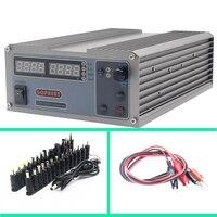 Mini cps 3220 DC Power Supply + 37pcs DC head Banana clip wire EU UK US adapter OVP/OCP/OTP low power 110V 230V 0 32v 0 20A