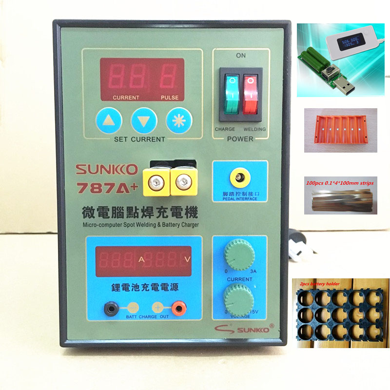 SUKKO 787A Spot Welder Battery Welder Applicable Notebook and Phone Battery Precision Welding Pedal 787a +1 set Tester