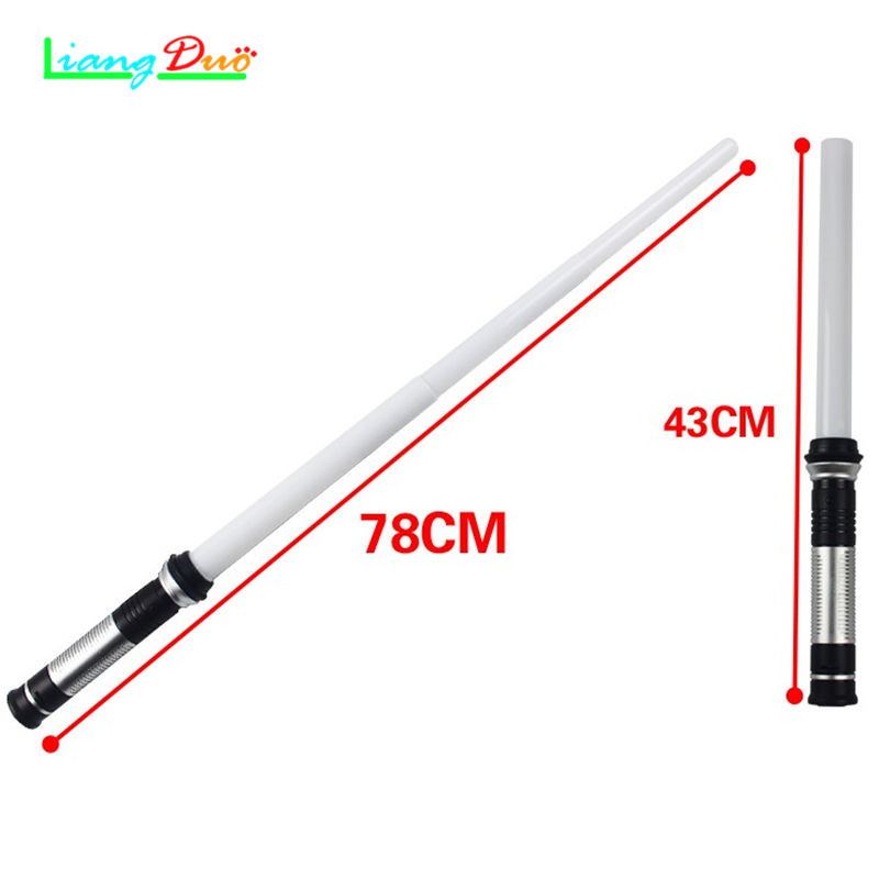1PCS Lightsaber Boy Gril Toys Star  Laser Sword Luminous Music Telescopic Childrens Outdoor Gift Flashing Cosplay