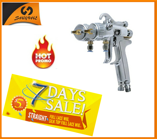 SAT1189 Nano Chrome Plating Varnishing Double Nozzle Spray Gun 1.3mm Nozzle Dual Nozzle Sprayer стоимость