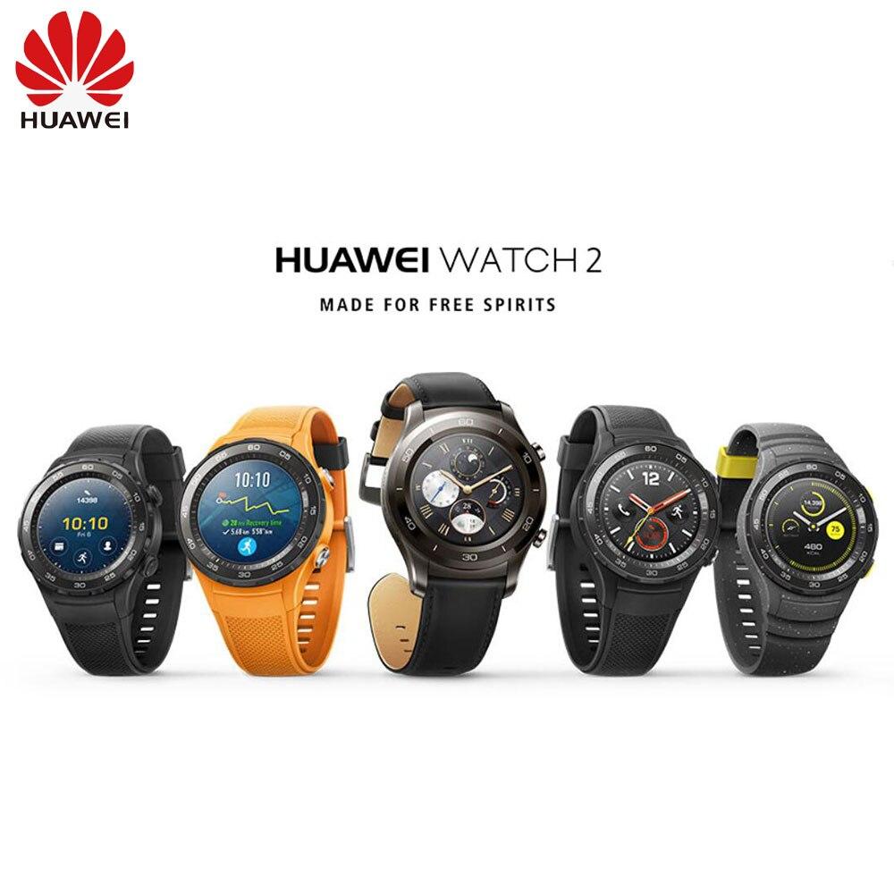Montre d'origine Huawei 2 Support LTE 4G Sport Smartwatch appel téléphonique traqueur de fréquence cardiaque pour Android iOS