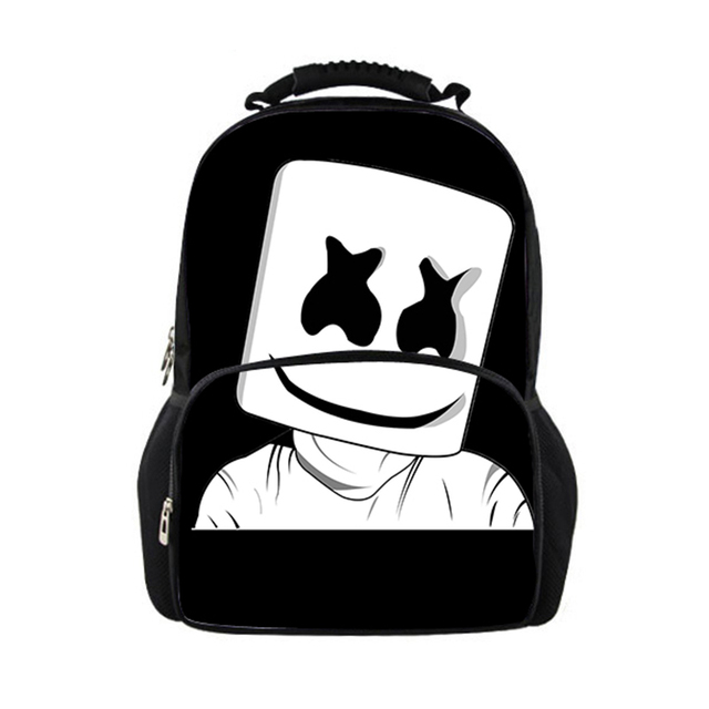 c1c771e9f Bag School Girl Marshmello School Bags Boys Girls Backpacks School Supplies  Schoolbag Satchel Girls Kids Back